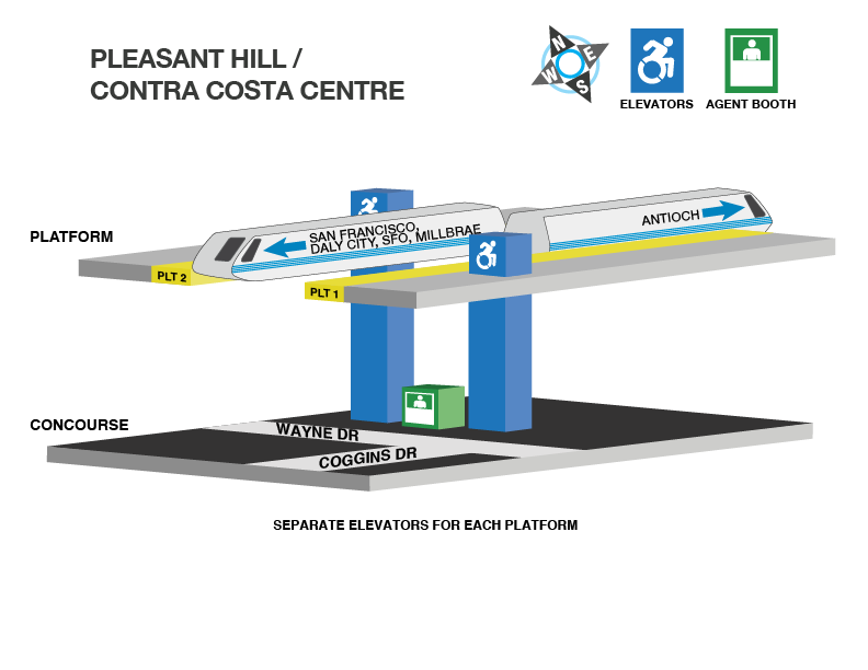 Pleasant Hill Station accessible path